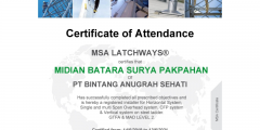 PT.  BINTANG ANUGRAH SEHATI CERTIFIED LATCHWAYS LIFELINE INSTALLER