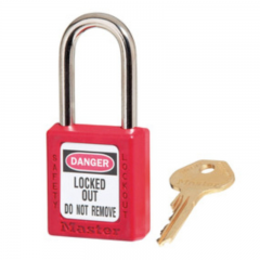 Masterlock Safety Padlock No.410 RED
